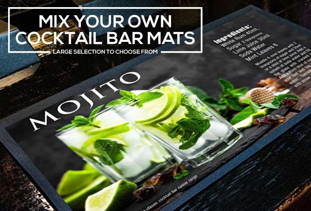 Mojito-Bar-runners-on-a-bar