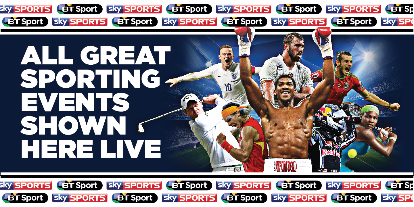 Sky and BT Sports Banner