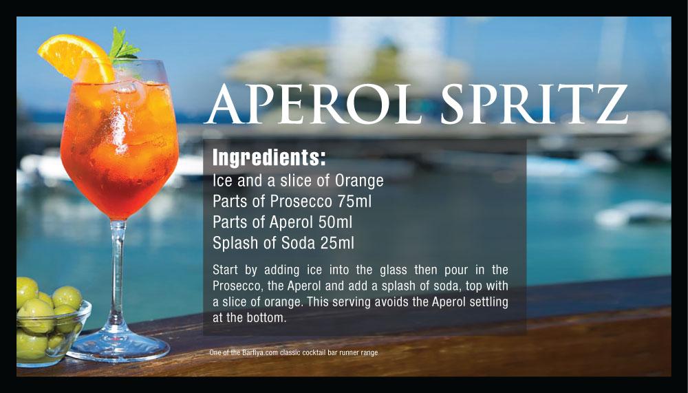Aperol Spritz Bar runners
