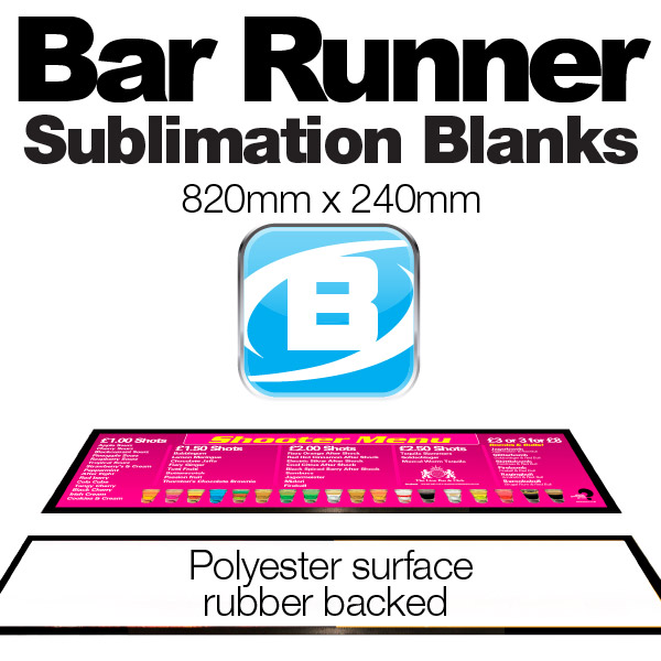 Bar Runner Blanks (820 X 240mm) Large