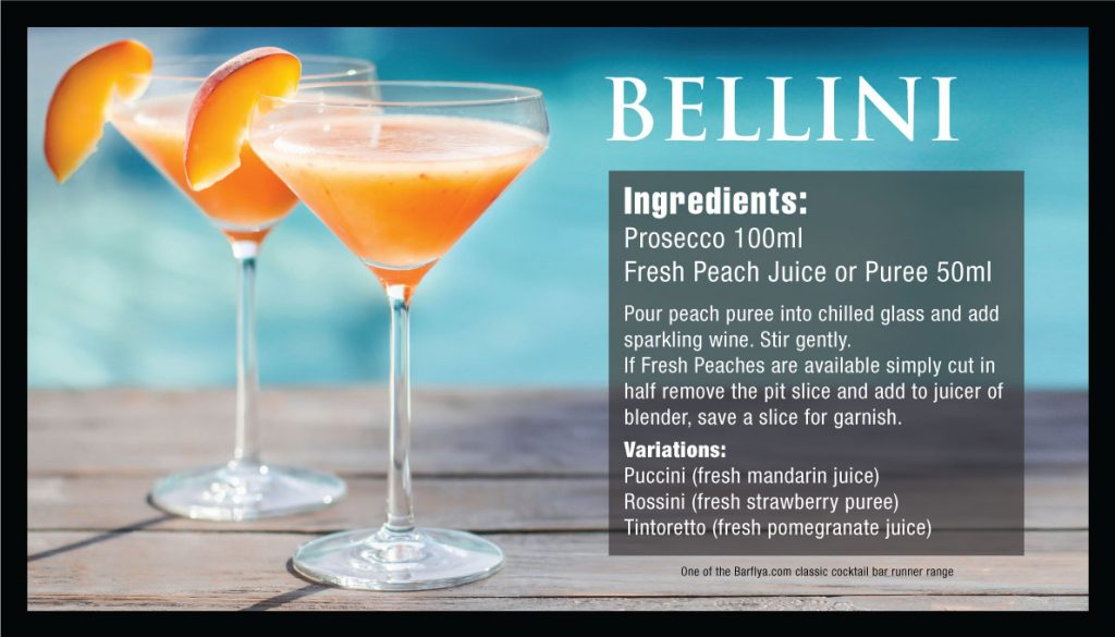 How to make a Bellini Cocktail Bar runner