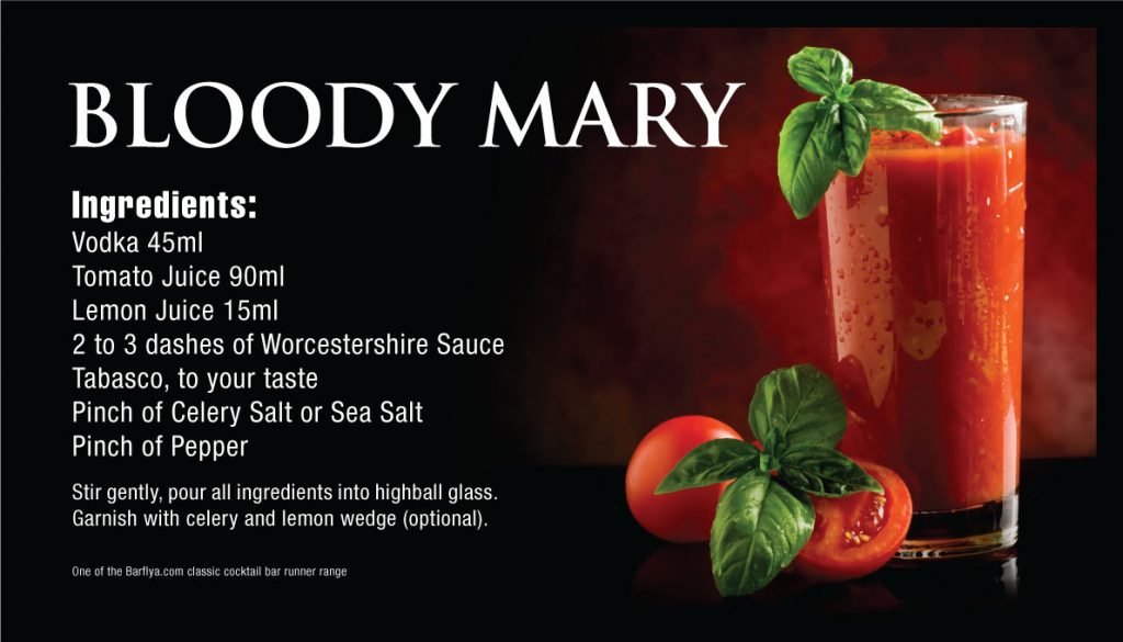 Bloody Mary Bar runners