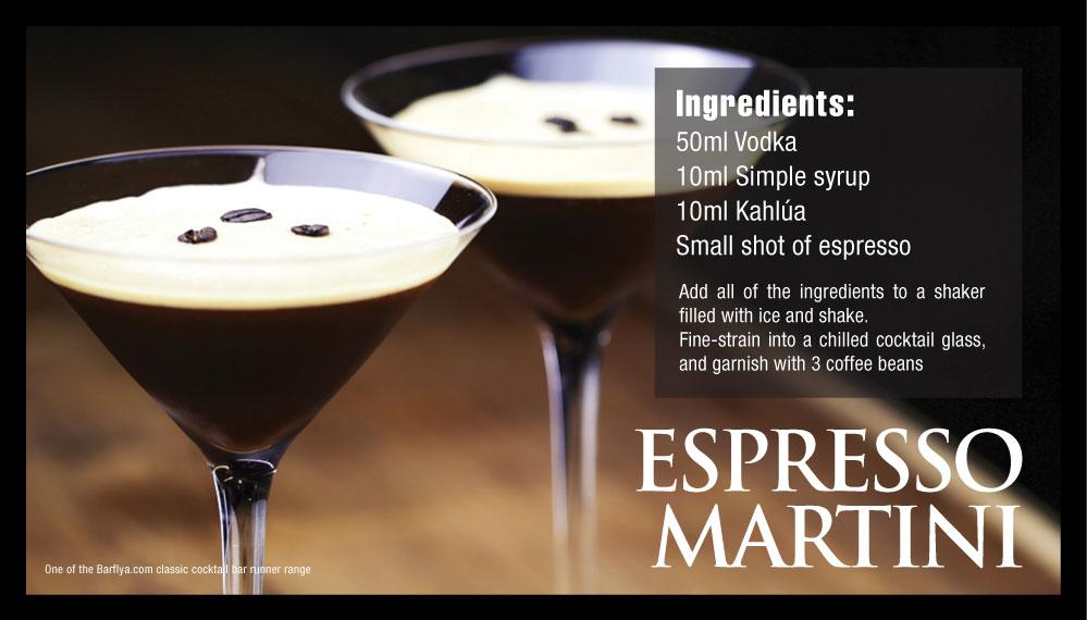 Espresso Martini Bar runner