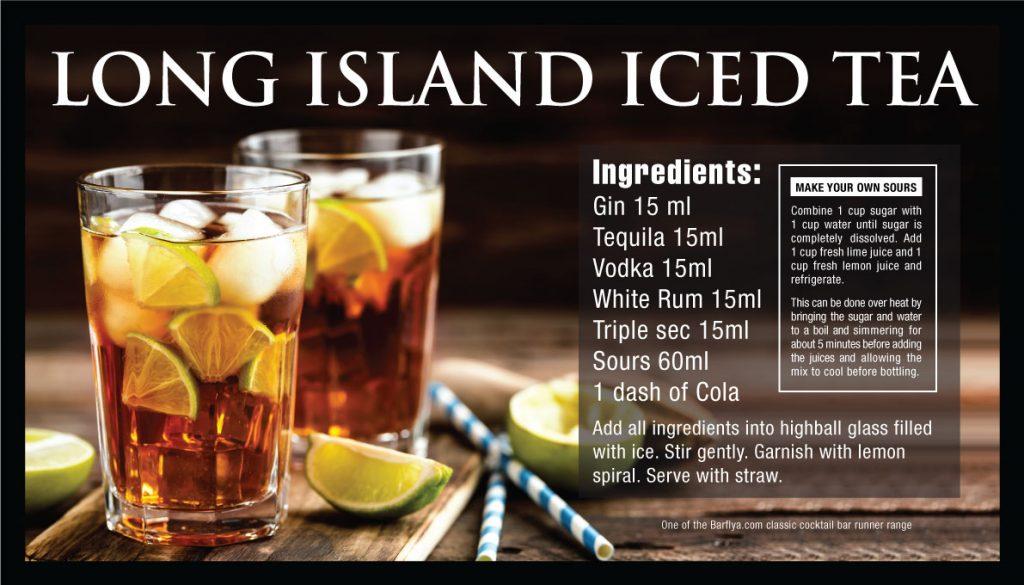 Long Island Iced Tea Bar runners