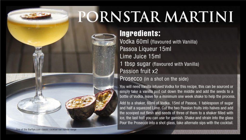 Pornstar Martini Bar runners