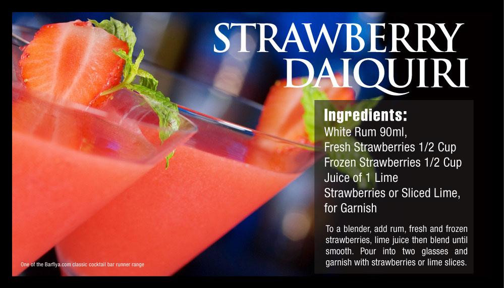 Strawberry Daiquiri Bar runners