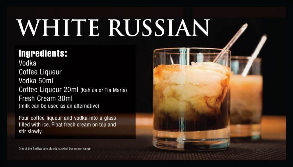 White Russian Bar runners